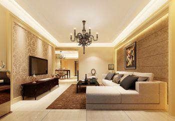 华晨雅苑欧式风格三居室家庭装修效果图