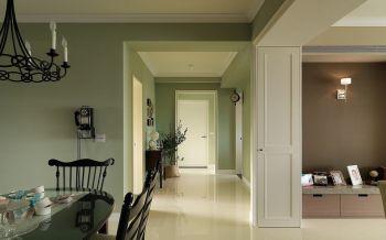 餐厅白色走廊混搭风格装潢图片