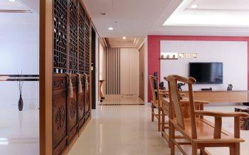 中式风格110平米三房一厅新房装修效果图
