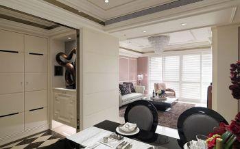 客厅白色隔断美式风格装潢效果图