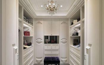 衣帽间白色衣柜美式风格装潢图片