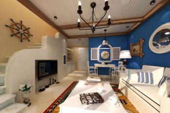 地中海风格90平米2房1厅房子装饰效果图