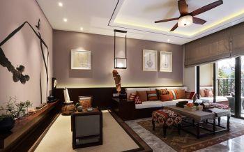 东南亚风格120平米3房1厅房子装饰效果图