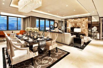 中山星汇隽庭现代精致三居室装修效果图