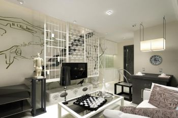 新中式风格90平米复式新房装修效果图