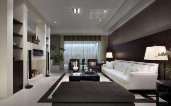 现代家庭三居室装修布置案例图