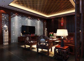 中式古典风格韵味三居室装修效果图