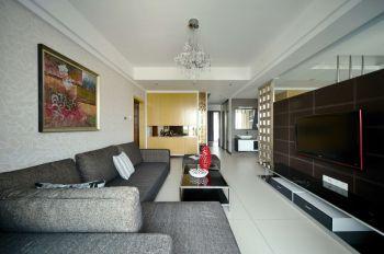 简约时尚风格三居室家庭装修案例图
