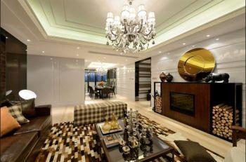 客厅白色灯具欧式风格效果图