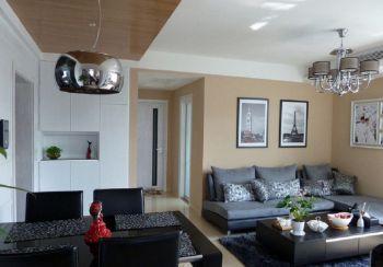 现代家庭三居室装修实拍案例图片