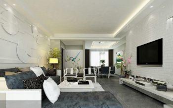 清新简约风格新中式四居室装修案例图