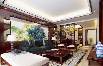 锦绣花苑中式风格三居室装修效果图
