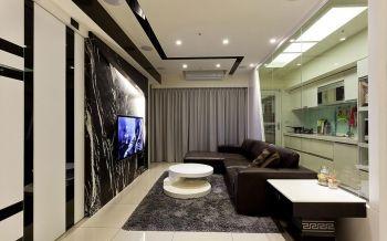 现代风格时尚二居室装修效果图