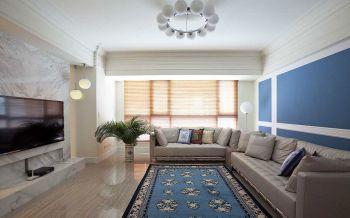 客厅黄色窗帘北欧风格装饰效果图