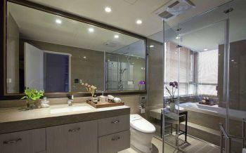 卫生间灰色洗漱台北欧风格装潢图片