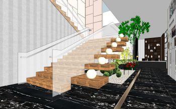 宁波顶固五金展厅楼梯走廊装修设计