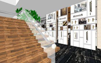 宁波顶固五金展厅楼梯装修效果图