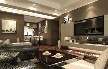 汉荣苑现代二居室装修效果图案例