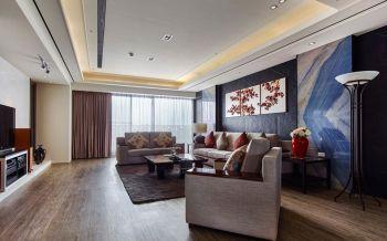 现代风格古典格局三居装修效果图