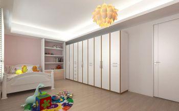 儿童房白色衣柜简约风格装修设计图片