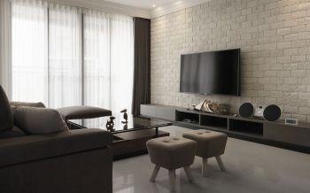 现代混搭北欧风格舒适两居装修效果图