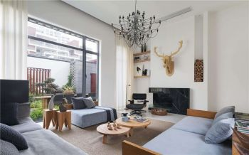 多元素混搭风格清新别墅装修效果图