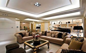 现代古典风格豪华装修三居装修效果图