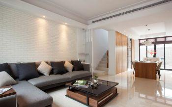 现代简约风格复式休闲三居装修效果图