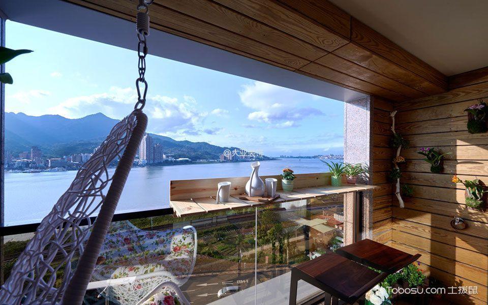 阳台 吧台_后现代风格1490平米2房1厅房子装饰效果图