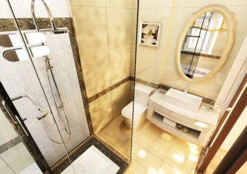 卫生间黄色隔断简欧风格装修设计图片