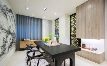 典雅黑色大理石餐桌设计效果图