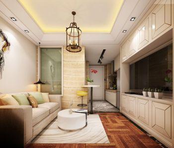 简欧风格公寓45平小户型装修效果图