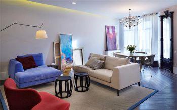 简约混搭风格舒适两居室装修效果图