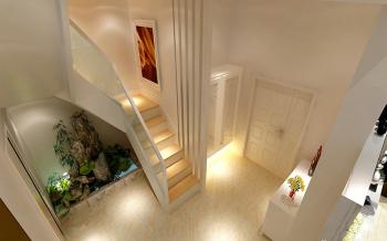 玄关黄色楼梯现代风格装修图片