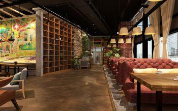 新江南乐晏茶餐厅沙发座过道装饰图片