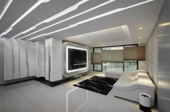 现代简约前卫造型三居装修效果图