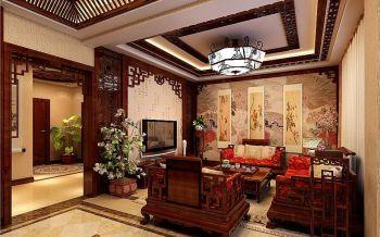 中式传统风格跃层舒适家居装修效果图
