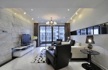 现代简约风格90平米3房1厅房子装饰效果图
