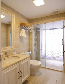 卫生间隔断欧式风格装饰设计图片