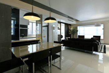 现代都市风格黑白三居装修效果图
