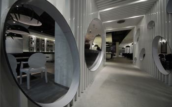 黑白个性餐厅走廊装修效果图