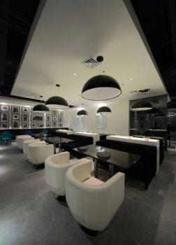 黑白个性餐厅大厅餐桌装修效果图