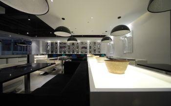 黑白个性餐厅大厅走廊装修效果图