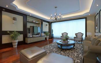 中洲阳光美式风格四居室装修效果图