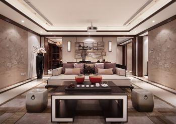 紫东名府新中式风格别墅效果图