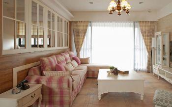 欧式田园风格清新两居装修效果图