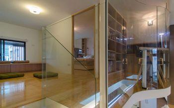 卧室咖啡色走廊现代风格装修图片