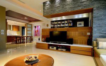 客厅米色地板砖日式风格装潢设计图片