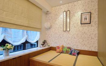 起居室黄色日式风格装潢效果图