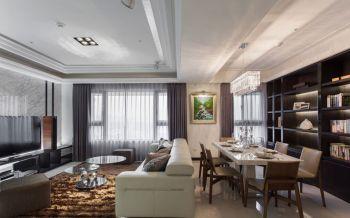 紫色窗帘现代简约风格装潢图片